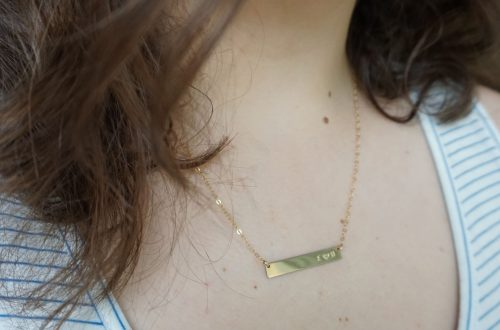 Made By Mary Initials Bar Necklace