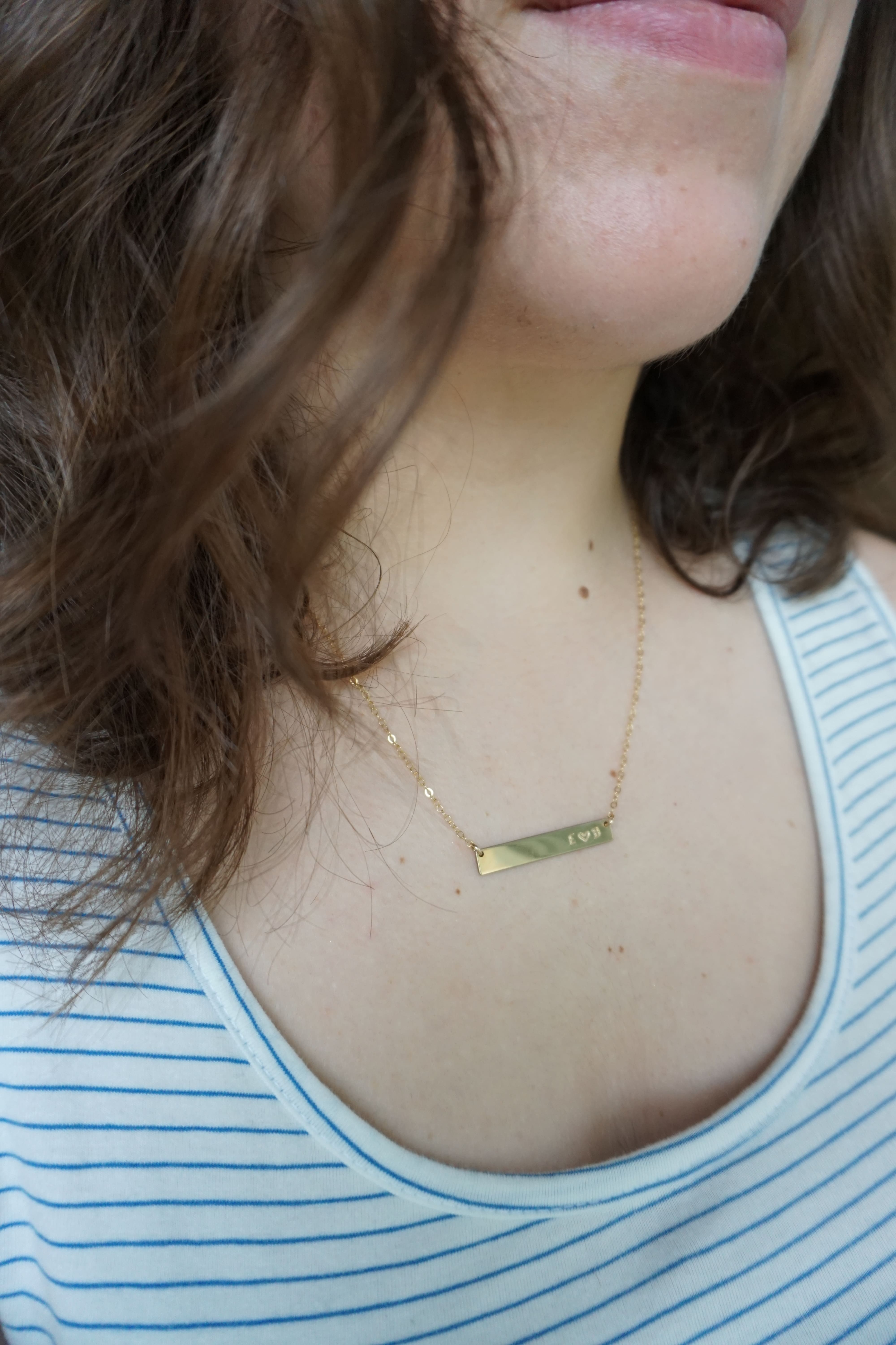 Made By Mary Love Bar Necklace