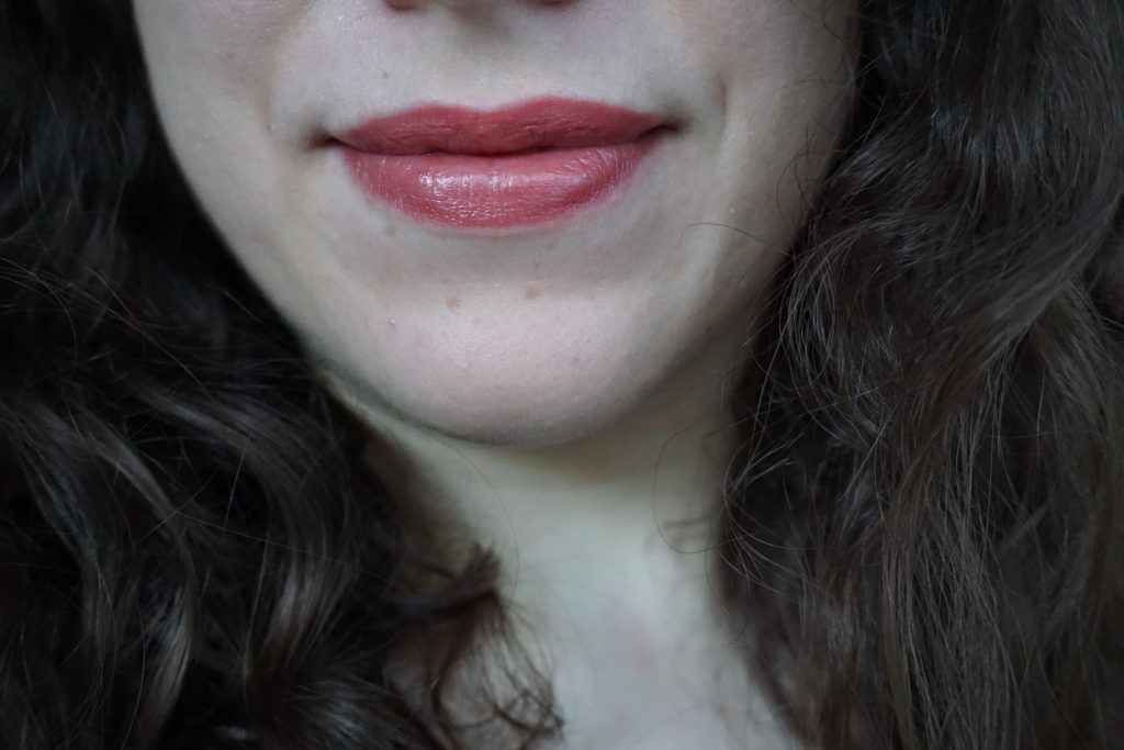 Glowing Jen on lips