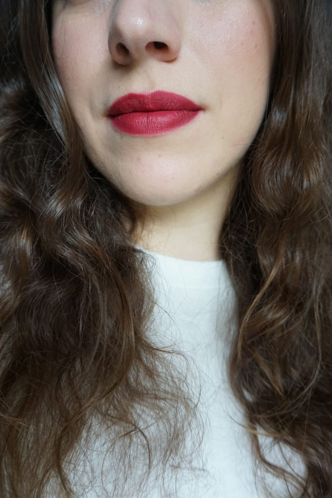 Velvet Myth on lips