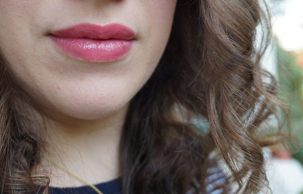 Lisa Eldridge Beauty Lip Gloss on lips