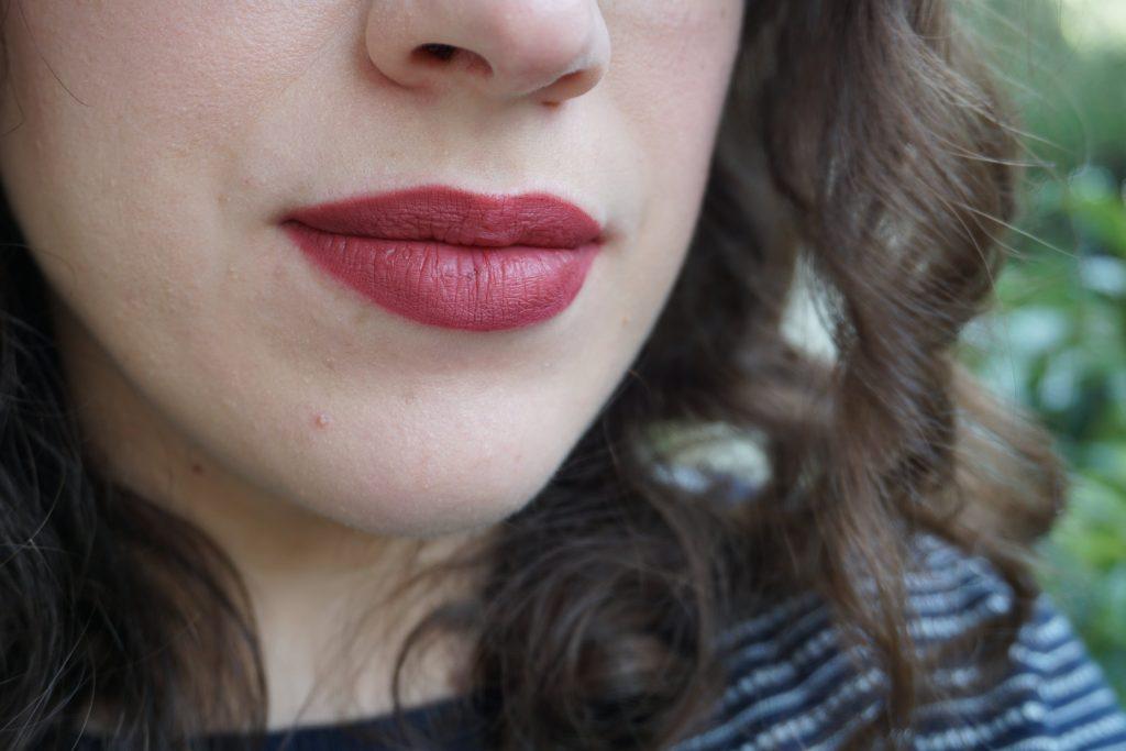 Velvet Blush lipstick with matching lip pencil