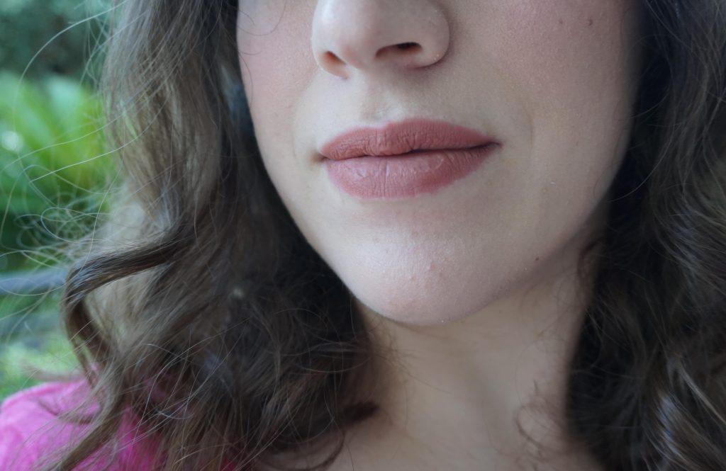 Velvet Affair Lipstick On Lips