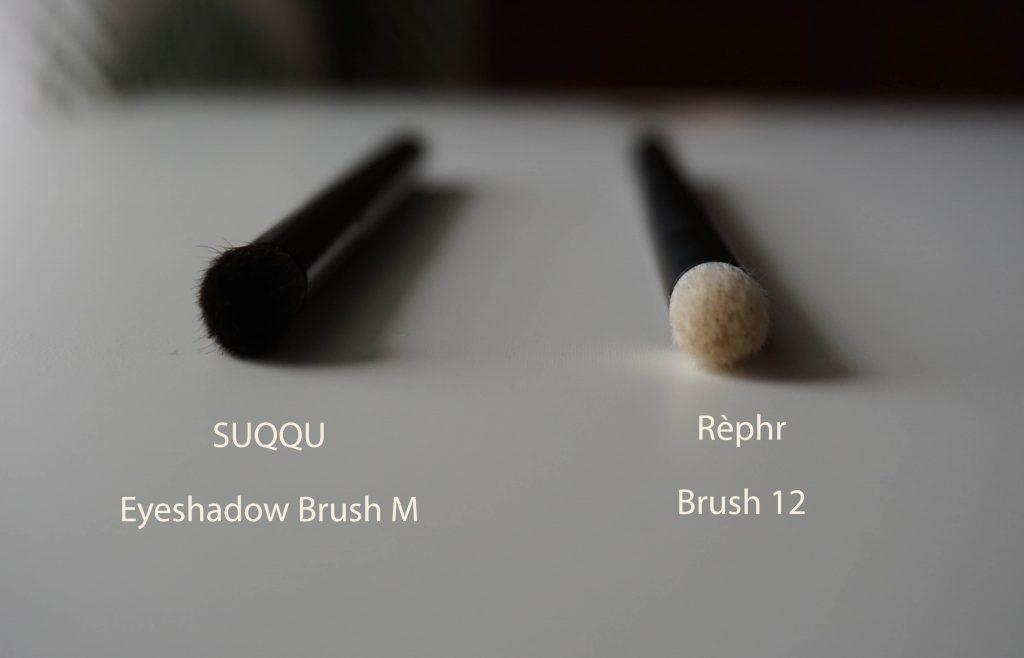 Rephr brush 12 vs Suqqu M sideways