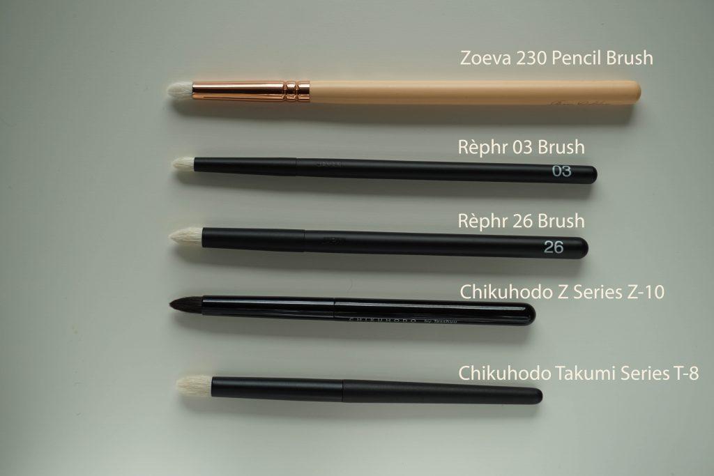 Rephr pencil brushes comparison