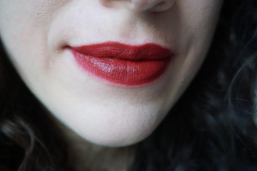 Guinevere Lipstick Pat McGrath on lips