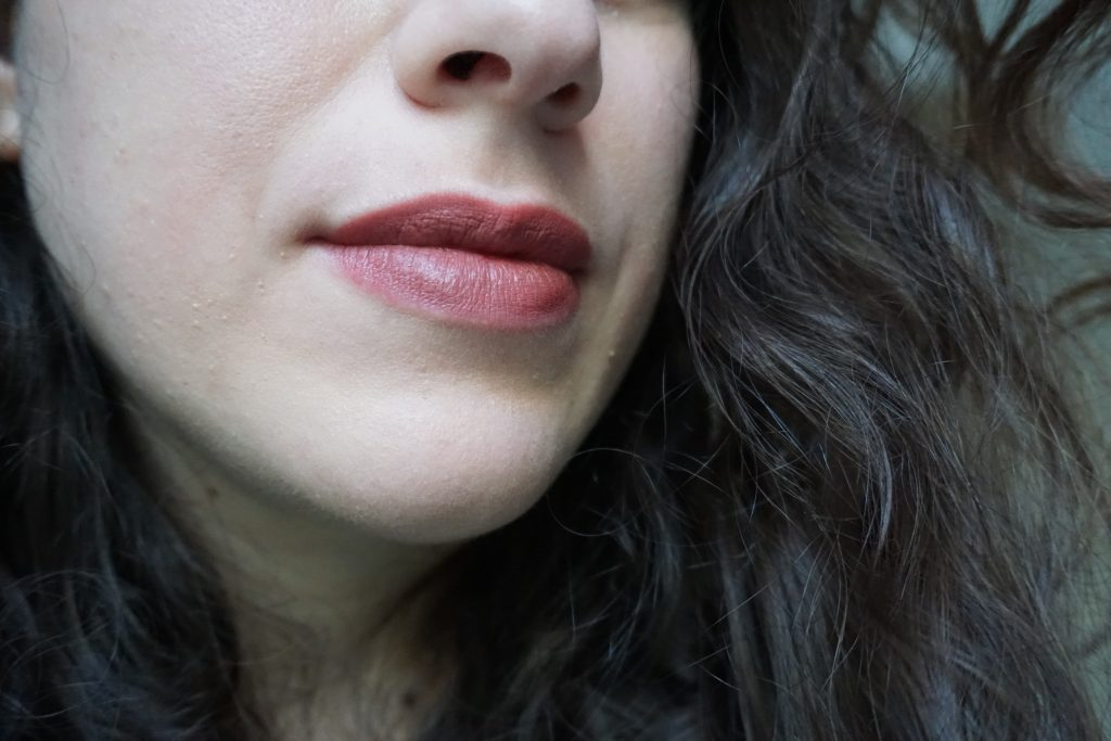 Omi Lipstick Pat MAcGrath on lips 2