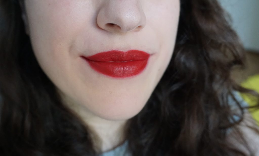 Vendetta Lipstick Pat McGrath on lips 2