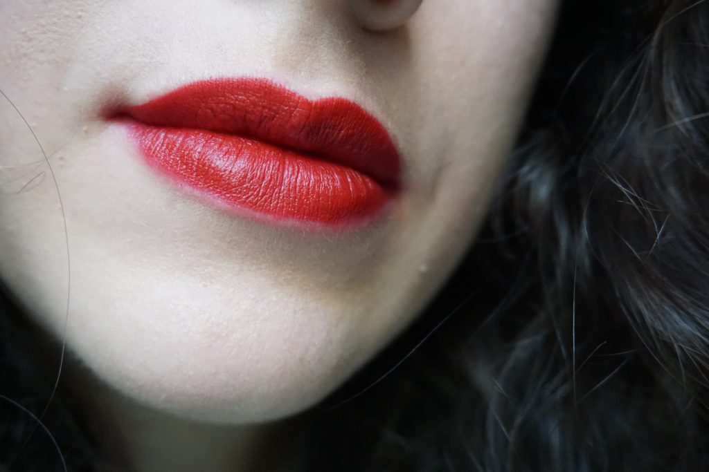 Vendetta Lipstick Pat McGrath on lips